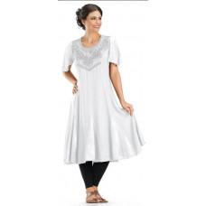 Daphne Midi Dress in size S - 5X in White Ivory