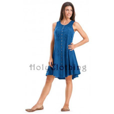Fiona Mini Dress size 3XL in Ocean