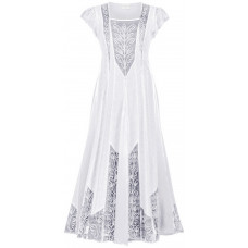 Isolde Maxi Tall Dress in size S - 5X in White Ivory