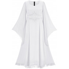 Selene Maxi Tall Moon Phase Dress in size S - 5X in White Ivory
