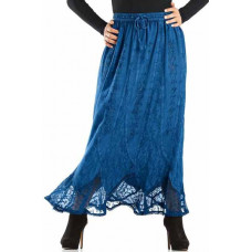 Chiara Maxi Skirt size 2X/3X in Ocean