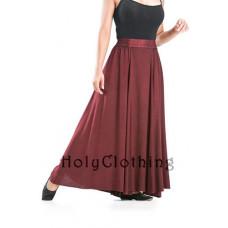 Emma Maxi Skirt size L/XL in Burgundy