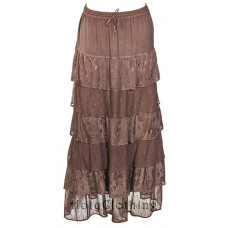 Jessica Maxi Skirt size L/XL in Chocolate