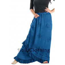 Olivia Maxi Skirt size 2XL/3XL in Ocean