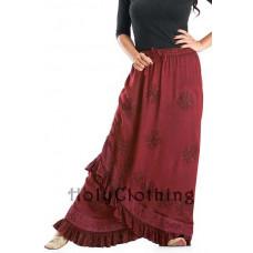 Olivia Maxi Skirt size 2XL/3XL in Burgundy