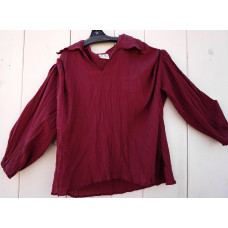 Erik Medieval Shirt in size XL in Chocolate Brown No. c15083