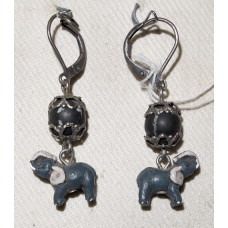Elephant in Ceramics Earrings No. e05387