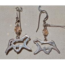Akita Outline Trot Earrings No. e11080