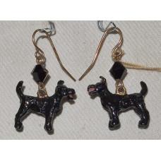Schnauzer  Earrings No. e11256
