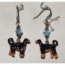 Afghan Hound Earrings No. e11356 - Handpainted