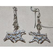 Field Spaniel Outline Trot Earrings No. e11372