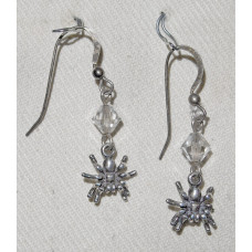 Spider in Sterling Silver Earrings No. e12185