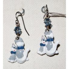 Cat and Kitten Earrings No. e12219