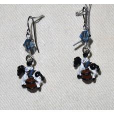 Horse Cowgirl Earrings No. e12226 - Barrel Racing Rodeo