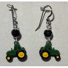 Tractor Earrings John Deere