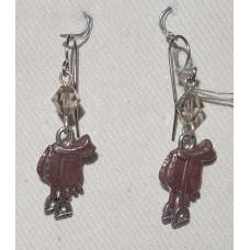 Horse Saddle Earrings No. e12487