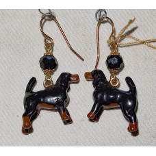 Black and Tan Coonhound Earrings No. e13158