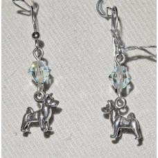 Akita Standing Small Earrings No. e13264