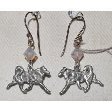 Alaskan Malamute Totting Small Earrings No. e13374