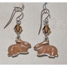 Rabbit Sitting Earrings No. e15022