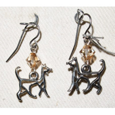 Cat Outline Earrings No. e15075