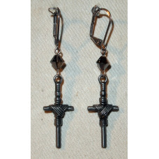 Cross wound with Rope Earrings No. e15091
