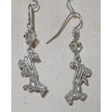 Horse Harness Racing Earrings No. e15124b