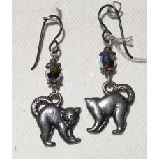 Angry Cat Earrings No. e15218