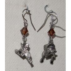 Horse Western Saddle Earrings No. e16113