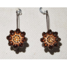 Flower Water Lily in Gold Vermeil Earrings No. e16155