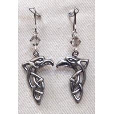Bird Earrings Celtic Eagle Head No. e16159