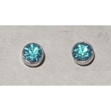 Crystal in Aquamarine Earrings No. e16193