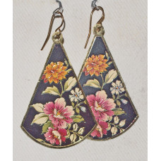 Flowers on Fan Earrings No. e16201