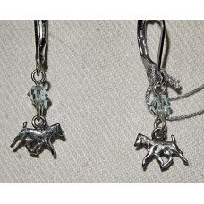 Jack Russel Terrier Trotting Small Earrings No. e16236