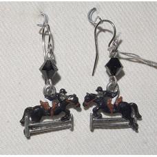 Horse Horse Jumping Earrings No. e16267