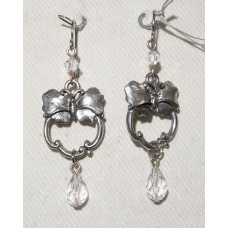 Butterfly with Crystal Drop Earrings No. e16298