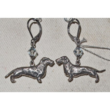 Dachshund Wirehair Earrings No. e17019
