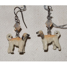 Afghan Hound Earrings No. e17146 - Handpainted