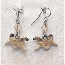 Afghan Hound Earrings No. e17147 Handpainted
