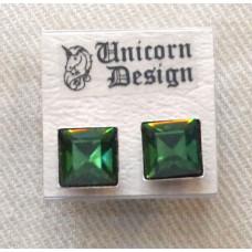 Crystal Square Earrings no e17152