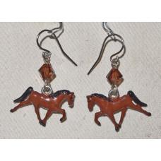 Horse  Trotting Earrings no e17153
