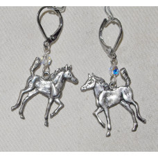 Horse Trotting Foals Earrings No. e18028