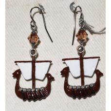 Viking Ship Earrings No. e18036