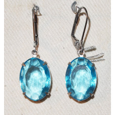 Crystal pearls in Aquamarine Earrings No. e18066