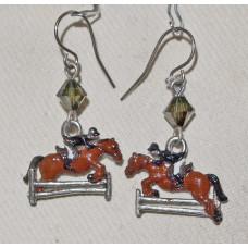 Horse Horse Jumping Earrings No. e19083
