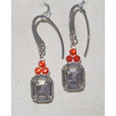 Black Diamond Crystal Earrings No. e19155