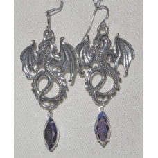 Dragon Earrings with Crystal Navette  No. e19180