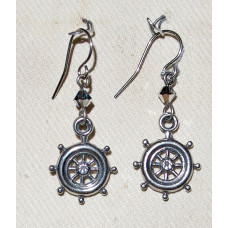 Sport Boat Steering Wheel Earrings No. e19203