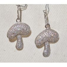 Mushroom Field Mushroom in micro pavé Earrings No. e19217