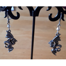 Flight of Airus Earrings from Alchemy England - Flying Dragons with Crystal Beads